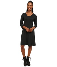 Exofficio Wanderlux 3 4 Sleeve Dress Black Women's Dress