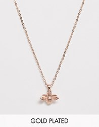 Ted Baker Rose Gold Bumble Bee Necklace Gold
