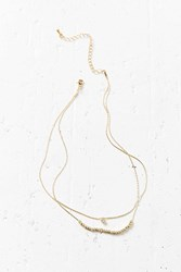 Urban Outfitters Grace Short Layering Necklace Gold