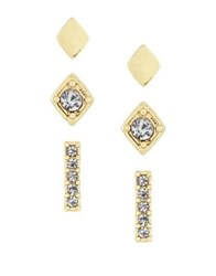 Laundry By Shelli Segal Bar Stud Earring Set Gold
