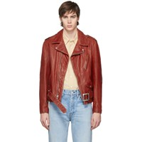 Schott Red Hand Vintaged Leather Perfecto Motorcycle Jacket