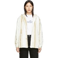 Noon Goons Off White Powder Hound Fur Jacket