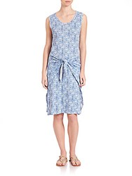 Rebecca Taylor Shibori Wrap Dress Violet Teal