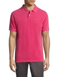 Barbour Washed Sports Pique Polo Fuchsia