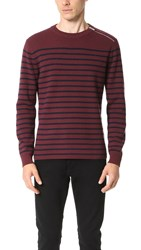 The Kooples Sport Shoulder Zip Sweater Burgundy