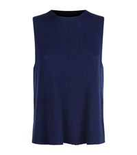 The Row Talipa Cashmere Top Female Navy