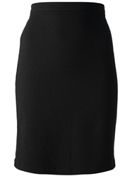 Kenzo Vintage High Waisted Pencil Skirt Black