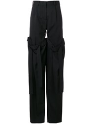Y Project Detachable Layered Trousers Black