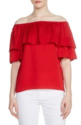 Maje Locao Off The Shoulder Top Rouge