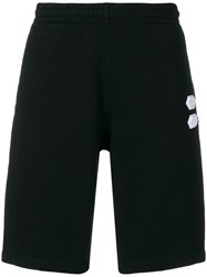Off White Logo Patch Shorts Black