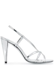Givenchy Slingback Sandals Silver