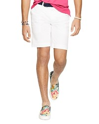 Polo Ralph Lauren Stretch Chino Shorts Classic Fit White