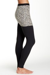 Magid Printed Skirt Overlay Legging Brown