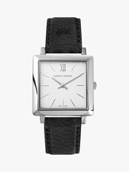 Larsson And Jennings 'S Norse Leather Strap Watch Black White Ljxii234001