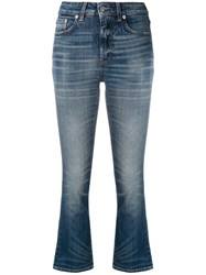 Department 5 Cropped Slim Fit Jeans Blue