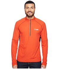 Columbia Titan Ultra Half Zip Shirt Super Sonic Black Men's Long Sleeve Pullover Orange