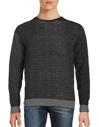 Selected Crewneck Marled Knit Sweater Black
