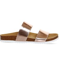 Office Oslo 2 Metallic Sandals Rose Gold