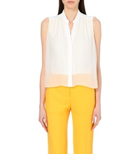 Sandro Sleeveless V Neck Shirt Ecru