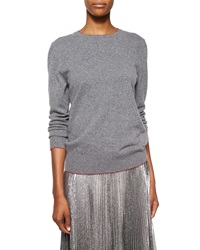 Christopher Kane Shimmer Trimmed Cashmere Blend Knit Sweater