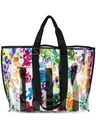 Versace Jeans Couture Rainbow Filigree Print Tote 60