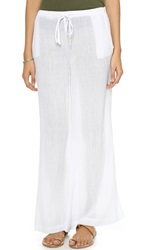 Skin Beach House Palazzo Pants White
