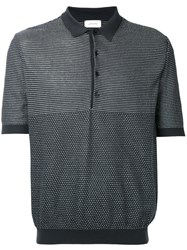 Christophe Lemaire Patterned Polo Shirt Grey