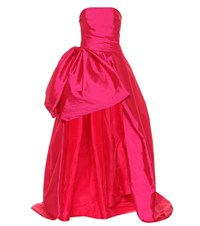 Monique Lhuillier High Low Taffeta Gown Pink