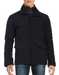 Weatherproof Zip Front Waterproof Jacket Navy