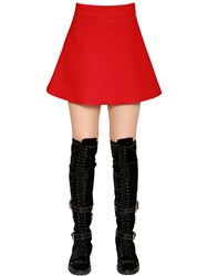 Fausto Puglisi Flared Cady Mini Skirt