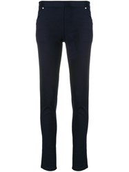 Chalayan Stretch Trousers Cotton Blue