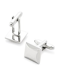 Bloomingdale's The Men's Store At Brushed Edge Square Cufflinks Silver
