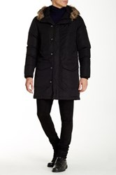 Diesel Kirton Faux Fur Trim Hooded Jacket Black