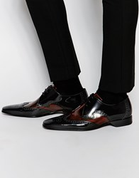 Jeffery West Brogue Shoes Black