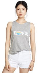 Spiritual Gangster Love Muscle Tank Heather Grey