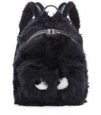 Anya Hindmarch Eyes Mini Shearling Backpack Blue