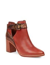 Ted Baker Nissie Cutout Leather Boots Cognac