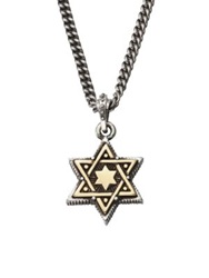 King Baby Studio Star Of David Pendant Necklace Brass Sterling Silver