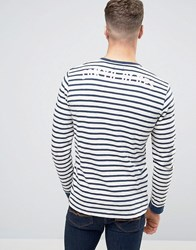 Edwin Tokyo Blues Long Sleeve Top Off White Navy