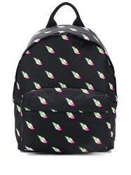 Mcq By Alexander Mcqueen Classic Printed Backpack Black