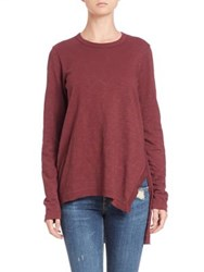 Wilt Asymmetrical Cotton Tunic Rhubarb