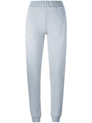 Mcq By Alexander Mcqueen Goth Logo Track Pants Grey