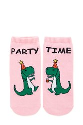Forever 21 Party Time Print Ankle Socks Pink Multi