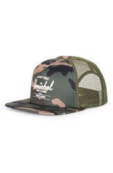 Herschel Men's Supply Co. Whaler Trucker Hat Grey W Camo Deboss