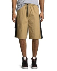 Public School Durero Herringbone Tape Shorts Sand