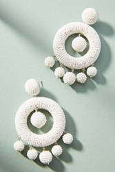 Suzanna Dai Beaded Chandelier Drop Earrings White