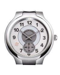 Philip Stein Teslar Philip Stein Large Stainless Steel Small Round Watch Head White Gray