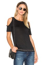 Derek Lam Cold Shoulder Tee Black