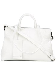 Marsell Top Zip Tote White