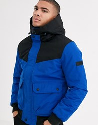 Tom Tailor Jacket With Hood In Blue